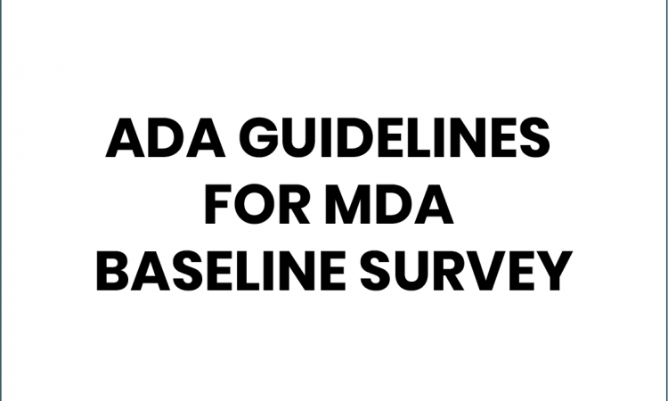 ada guidelines for mda
